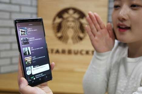 Voice Order Cafe Services - Starbucks Korea Now Offers Mobile Voice Ordering via Samsung's Bixby