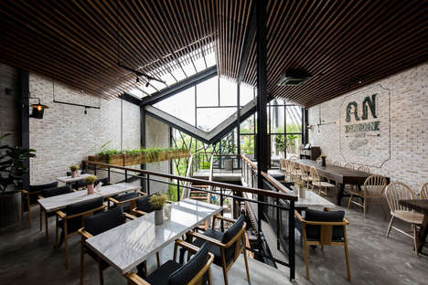 Labyrinth-Like Industrial Cafes
