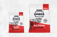 Sugar-Free Meat Snacks - The Ember Biltong Snacks are Crafted with 100% British and Irish Beef