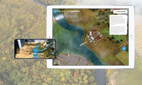 River-Focused AR Experiences - The WWF Free Rivers AR is Meant to Educate About Water and Life