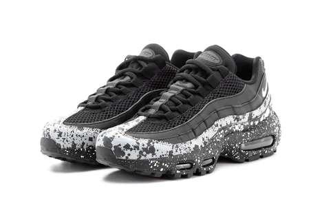 Splatter-Adorned Sneakers