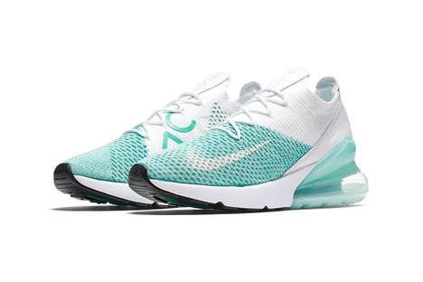 Minty Igloo-Inspired Sneakers