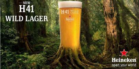 Smokey Fungus-Infused Lagers - Heineken's New H41 Beer is Made with a Wild Patagonian Fungus