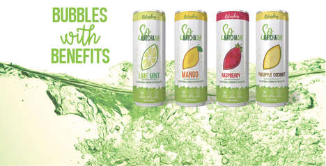 "Sparkling Matcha Beverages - Matchaah's Sparkling Water Drink Range Touts ""Bubbles with Benefits"""