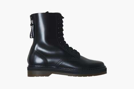 Tonal Cowhide Combat Boots