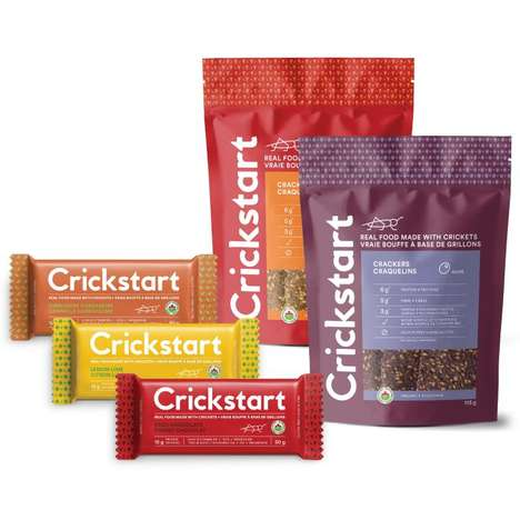 Canadian Cricket Snacks - 'Crickstart' Makes Crackers and Bars from Ontario Cricket Farm Insects