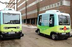 Autonomous Shuttle Buses - Stockholm is Trailing a Driverless Bus System in Its Krista District