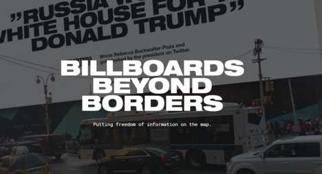Censorship-Fighting Billboards - Billboards Beyond Boarders Gives a Voice to Silenced Journalists
