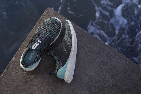 Upcycled Ocean Plastic Sneakers - adidas Introduces the New Ultraboost Parley LTD Sneakers