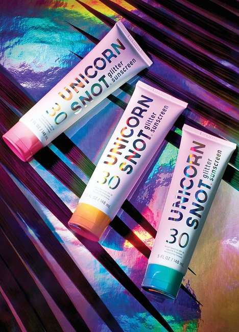 Glitter-Heavy Sunscreens - The Unicorn Snot Glitter Sunscreen Provides Shimmer and UV Protection