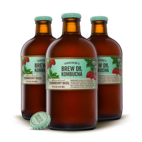 Herbaceous Berry Kombuchas - Brew Dr.'s Strawberry Basil Kombucha is an All-New Seasonal Flavor