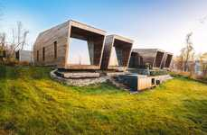 Structural Modern Cabin Retreats - The Malangen Retreat is a Luxurious Travel Option in Norway