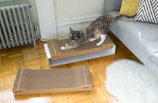 Design-Centric Cat Scratchers - The Corr Lounge by WISKI Makes an Inexpensive Material Look Elegant
