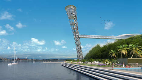 Award-Winning Double-Ellipse Towers