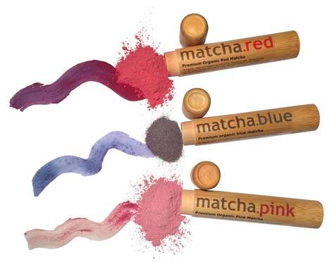 Tinted Matcha Powders - Matcha.blue Offers Blue, Pink and Red Matcha as an Alternative to Green