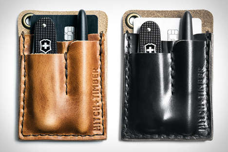 Stylish Leather Card Caddies