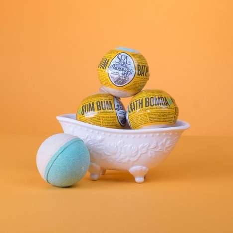 Cream-Inspired Bath Bombs