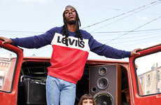 Hip Hop-Inspired Denim Collections - Levi's Takes Cues from the Music Scene from the 80s and 90s