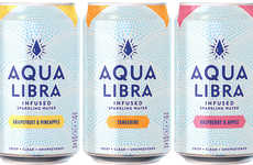 Unsweetened Infused Sparkling Drinks - Aqua Libra Offers a Crisp, Refreshing Take on Soda