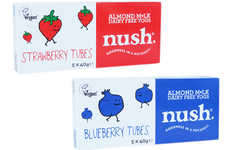 Child-Friendly Almond Yogurts - The New Nush Yogurt Tubes are Easy to Enjoy Out of the House