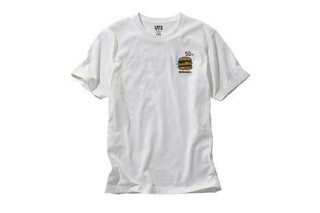 Collectible Fast Food T-Shirts - Uniqlo and McDonald's are Celebrating Big Mac's 50th Anniversary