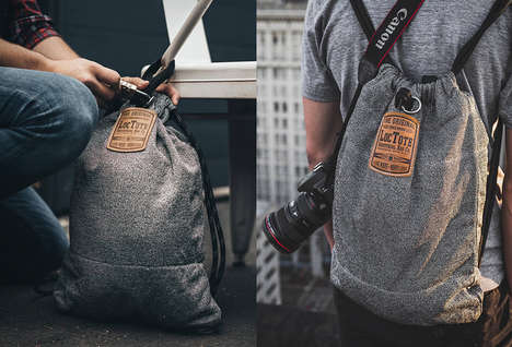 Theft-Proof Drawstring Bags - The Loctote Flak Sack is a Stylish and Safe Travel Bag Option