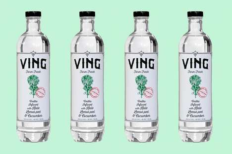 Small-Batch Kale-Infused Vodkas