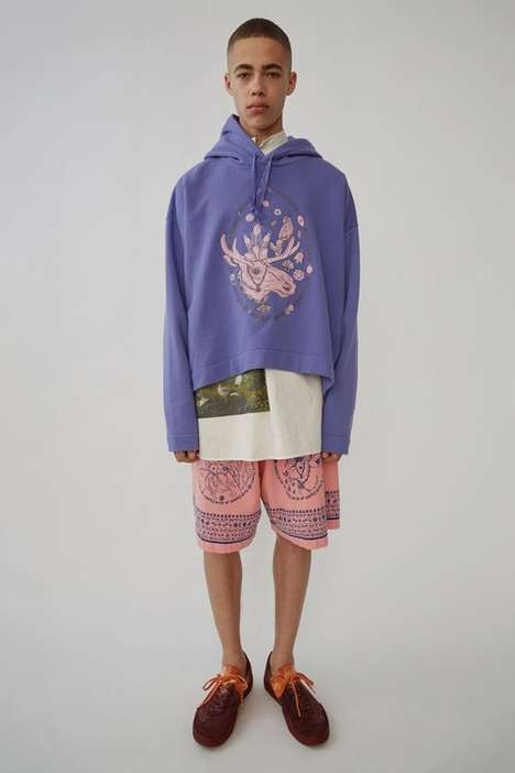 Swedish Folklore-Inspired Fashion - Acne Studios' Spring/Summer 2018 Line is Chromatic & Print-Heavy