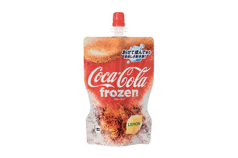 Frozen Soda Beverages - Coca-Cola and Fanta Unveil Their Frozen Slushie Iterations in Japan