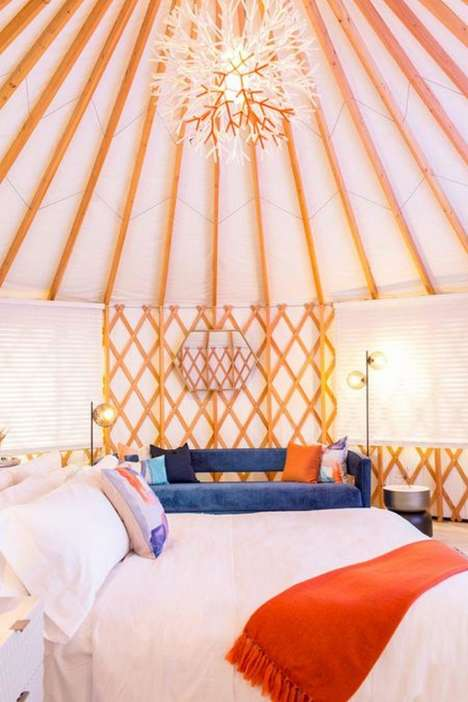 Luxurious Music Festival Tents - Marriott's Luxe Temporary Dwellings are Lush, Cozy & Exclusive