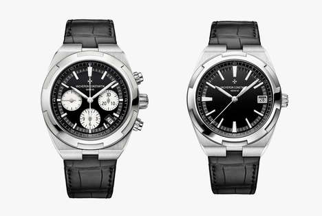 Anti-Magnetic Luxury Watches - The Vacheron Constantin Overseas Embraces Sporty Design Cues