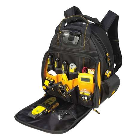 Illuminating Tool Backpacks - This DeWalt Backpack Features an LED Light for Nighttime Assistance