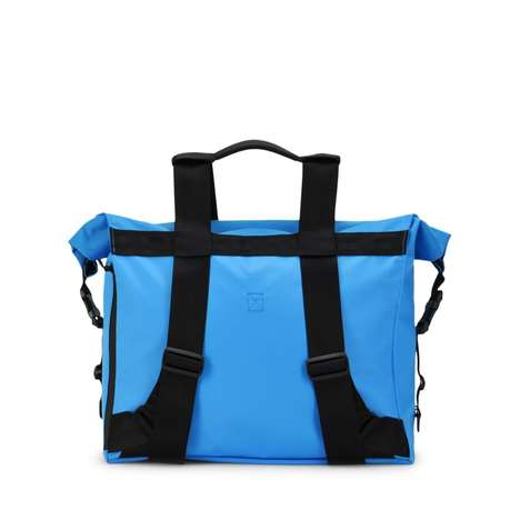 Transformative Rolltop Backpacks - This Bag Can Be Used in Tote or Shoulder-Slung Backpack Modes