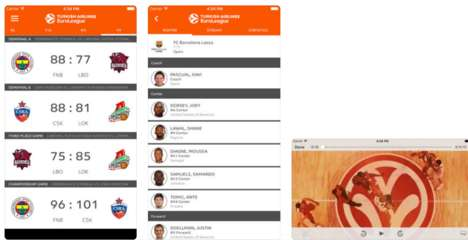 Interactive Basketball Apps - The 'Euroleague Mobile' App Uses IoT Data to Boost Engagement