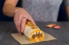 Cheese Sauce-Stuffed Burritos