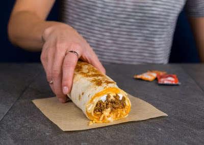 Cheese Sauce-Stuffed Burritos