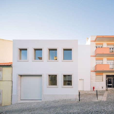 Austere Juxtaposed Houses