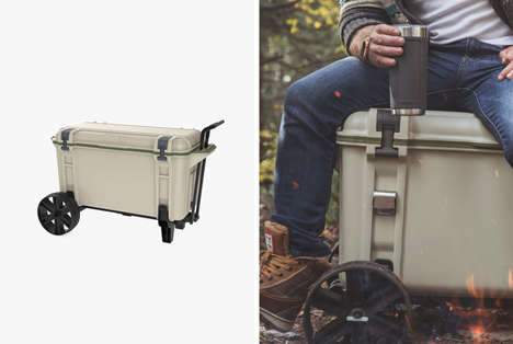 Rugged All-Terrain Coolers - The Venture Cooler from OtterBox Has Wide Wheels for Easy Travel
