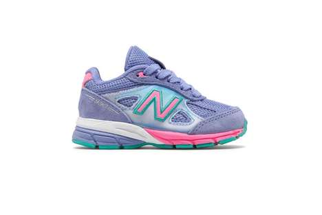 Retro Neon Youth Sneakers