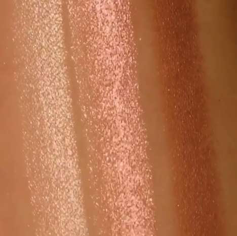 Shimmering Cosmetic Swatches