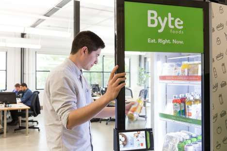 Smart Office Fridges - These Byte Foods Smart Fridges Offer a Healthy and Local Food Selection