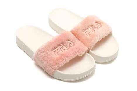 Hip Fur-Lined Slides