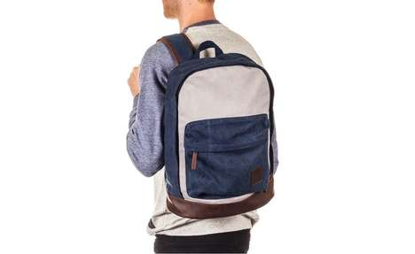 Faux Leather Backpacks - This Two-Tone Backpack Combines a Soft Touch With Sharp Style