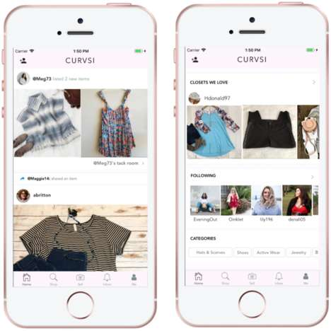 Plus-Size Clothing Apps - The 'Curvsi' App Helps Women Buy and Sell Plus-Sized Fashion Products