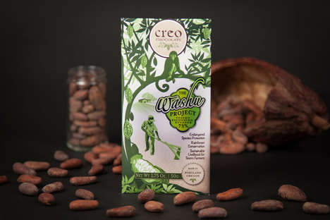 Ethical Conservation Chocolates - Creo Chocolate's Single-Origin Bar Supports Rainforest Life