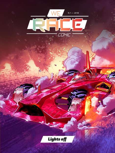 Race-Themed Free Webcomic Experiences - The We Race Comic is Sponsored by Scuderia Ferrari