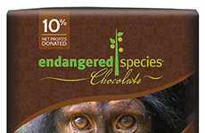 Animal Conservation Dark Chocolates - This Natural Dark Chocolate Supports Chimpanzee Protection