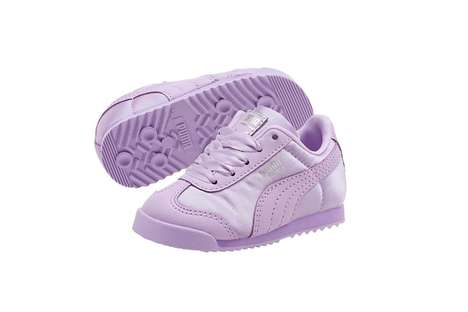 Monochromatic Satin Baby Sneakers