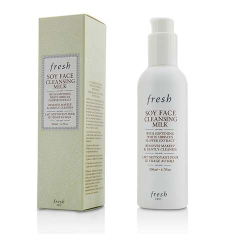 Soy Protein Cleansers - Fresh's Soy Face Cleansing Milk is Conditioning & Full of Amino Acids