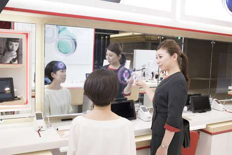 Responsive Beauty Shops - The Shiseido Flagship Boasts a Next-Gen Counter and Consulation Mirror